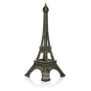 Jaycoknit L'Eiffel Tower Metal Collectible Table Top Home Decor Showpiece Gift-15 cm