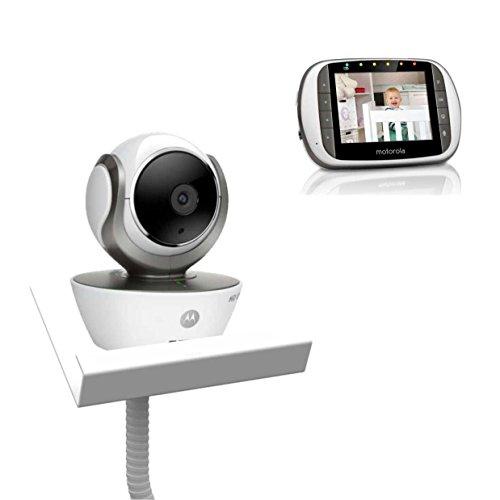 Motorola MBP853 with Baby Camera Holder (White) - The Universal Baby Monitor Shelf Holder  The Flexi Holder