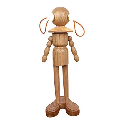 GRFH Kindertischlampen Humanoid Wooden Bedside Bedside Puppet Lampen LED Tischleuchten