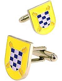 Gemelos para Camisa Escudo del Tercio del Duque de Alba Segundo de la Legión