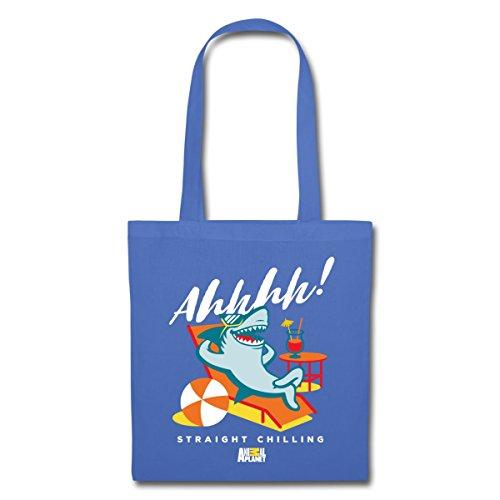 Spreadshirt Animal Planet Hai Im Urlaub Straight Chilling Stoffbeutel Hellblau