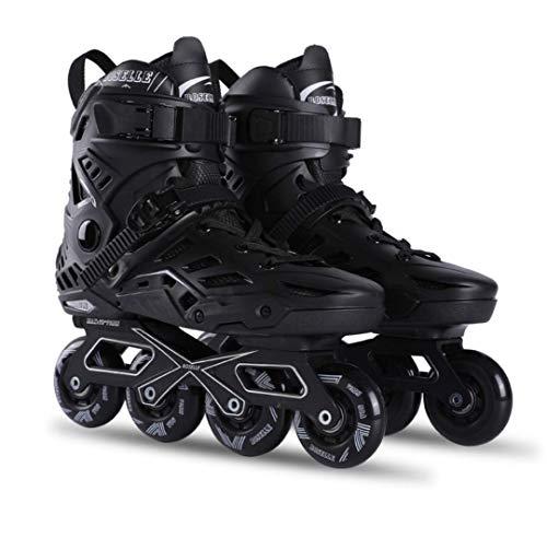 ZYSLB Skates mit Light Up Wheels Anfänger Roller Fun Flashing Illuminating Roller Skates für Kinder Jungen und Mädchen - erhältlich in Zwei Farben und DREI Größen,Black,EU43=US10.5=UK8.5 (Up Light Skates Roller)