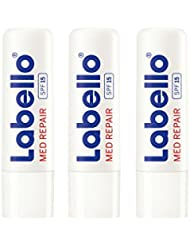 Labello Med Repair / Lippenpflegestift im 3er-Pack (3 x 4,8 g) / Lippenpflege speziell für spröde und rissige Lippen / Lippenbalsam mit Sonnenschutz (LSF 15) und Vitamin E für intensiven Lippenschutz