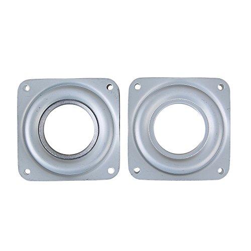 BQLZR couleur argentée - roulement carré de 71 mm en fer avec une capacité de poids de 29,9 kg - roulements pivotants épais - lot de 2