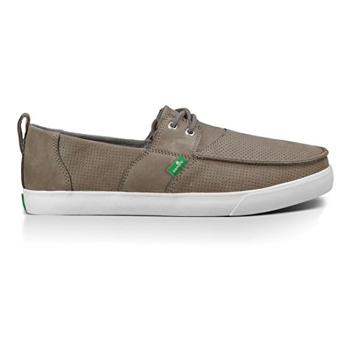 Sanuk Mens Offshore Deluxe Boat Shoe peau