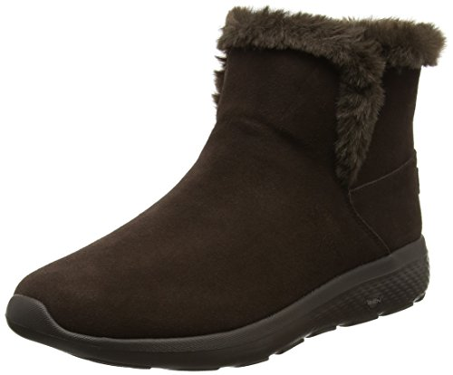Skechers On-The-go City 2, Botas Chukka para Mujer, Marrón (Chocolate), 40 EU