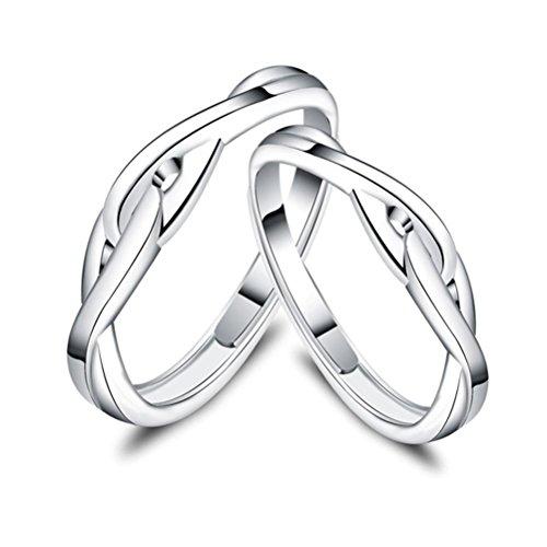 ZPL Coppie dal vivo S925 argento anello (regolabile)