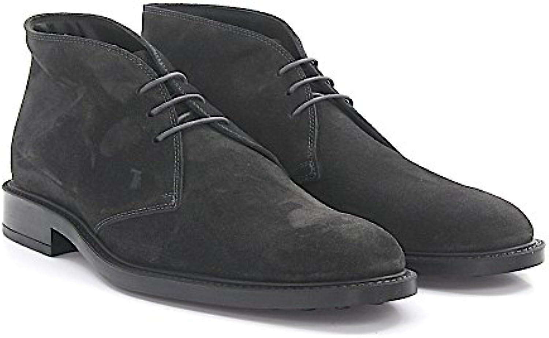 Tod's Stiefel A00D80 Veloursleder Grau  Billig und erschwinglich Im Verkauf