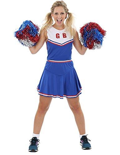 Erwachsener Damen Kostüm Cheerleader Fasching Karneval Verkleidung Small
