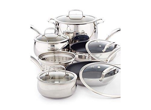 Belgique Stainless Steel 11 Piece Cookware Set with Nonstick Saute Pan & Fry Pan by Belgique