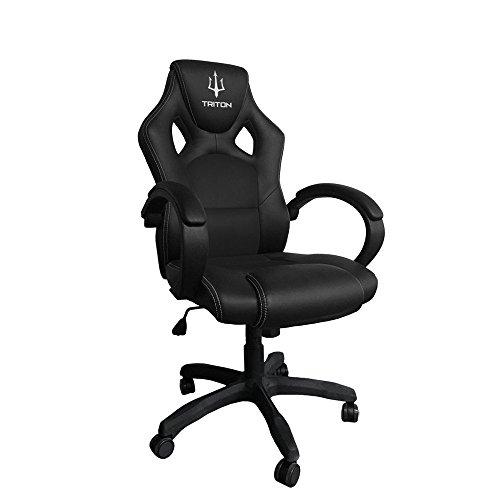 Triton p050-a1-bb Gaming Chair-sedia, Simili Cuir, Noir, 65x 65x 125cm