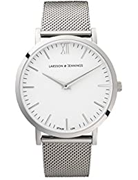 Larsson & Jennings Lugano Unisex-Adult Quartz Watch, Analogue Classic Display and Stainless Steel Strap