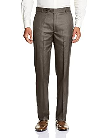 Vivaldi Men's Formal Trousers (8907007114957_VF08145_38W x 30L_Brown)