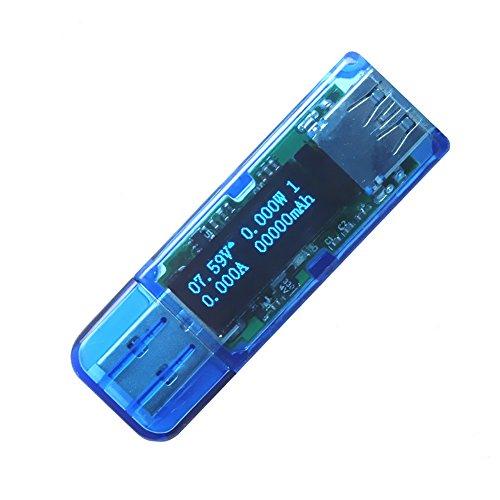 Preisvergleich Produktbild Expower Mini Digital Multimeter 4 in 1 Multi Tester USB 3.0 Hub,DC 13V Spannung,Tragbar Voltmeter Amperemeter Powermeter Leistung Kapazitätsmessgerät, Unterstützung QC 2.0 Schnelle USB Aufladung