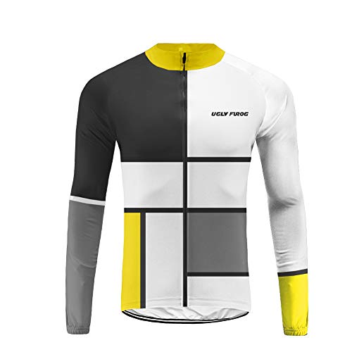 Uglyfrog Sport im Freien Klassik Polyester Fahrradtrikot Frühling Herren Gemütlich Langarmtrikot Radfahren Jersey Triathlon Bekleidung