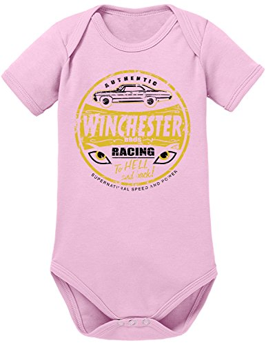 touchlines-baby-unisex-body-mr-fusion-winchester-bros-racing-rosa-soft-rosa-talla-6-meses-68-cm