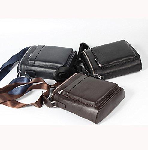 Business Casual Wichtige Composite-Ledertasche Quadratische Tasche Für Männer Schwarz Black