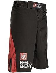 KRF Feel The Enemy MMA Bangkok Pantalones Cortos de Boxeo, Hombre, Negro, M