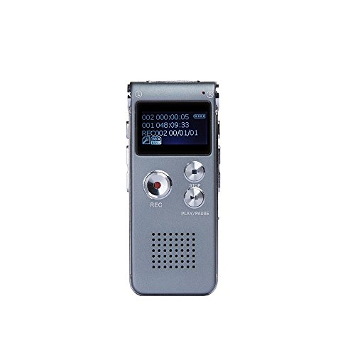 Goodeen 8GB Digital Voice Recorders USB Rechargeable Dictaphone Audio Recorder with Multifunction and MP3 Player(Gray) Test
