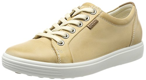 Ecco Damen Soft 7 Ladies Sneaker, Beige (Powder), 38 EU