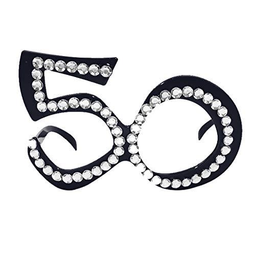 Mitlfuny Karnevalsparty Fancy Festival Zubehör,Lustige verrückte Kostüm Brillen Neuheit Kostüm Party Sonnenbrillen Zubehör (70er Jahre Kostüm Männlich)