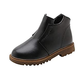 WNGO_Man Shoe Man Boys Warm Winter Flock Square Bootie Round Toe Short Tube Boots Flock Shoes Single Tactical Casual Leisure Comfy Suede Trainers Jogging Combat Fitness Walking Outdoors