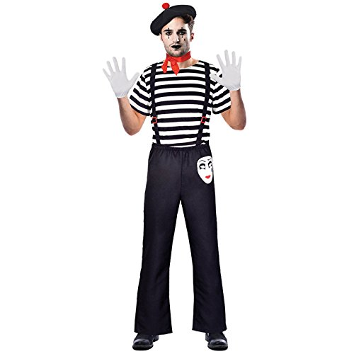 Kostüm Mime Schuhe - Herr Pantomime - Clown Pantomime Zirkus Kostüm Herren Amscan