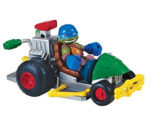 Turtles Patrol Buggy mit Leo Halbschalen Helden Fahrzeug und Figur (Half Shell Heroes Leo)