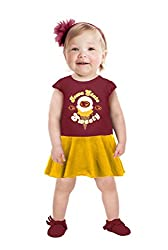 NCAA Iowa State Cyclones Girls Toddler Short Sleeve Full Skirt Dress, 5 Tall, Red