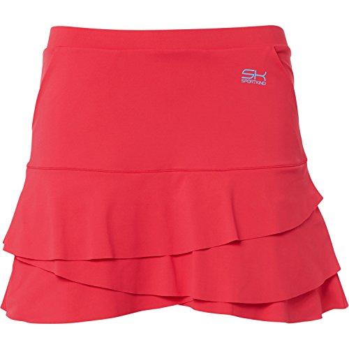Sportkind Mädchen & Damen Tennis/Hockey/Golf Tulip Rock mit Taschen & Innenhose, pfirsich, Gr. 152