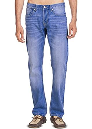 Zovi Cotton Regular Fit Ice Blue Wash Denim Jeans (10431606101_40)