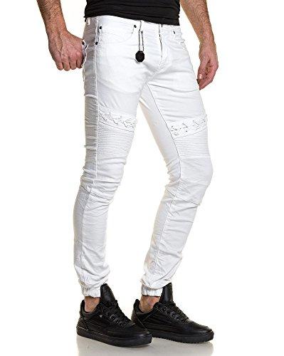 Project X - Jogger Hose Art und Weise weißer Mann gerippt Weiß