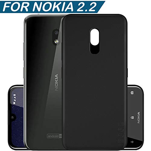 Hupshy Soft TPU Back Cover for Nokia 2.2 - Black