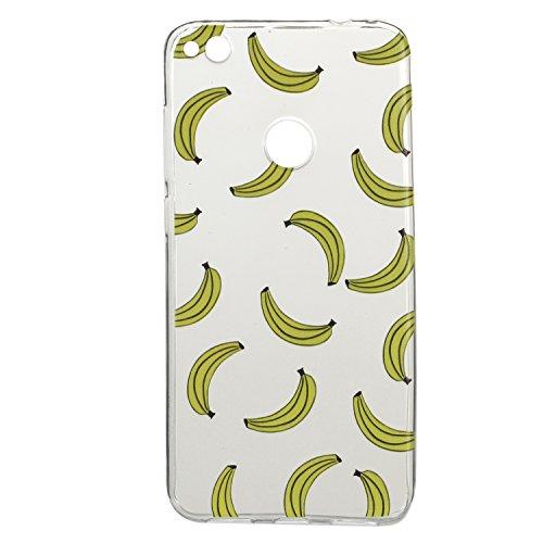 BONROY® Huawei P8 lite 2017 Coque Housse Etui,Fashion Belle Ultra-Mince Thin Soft Silicone Etui de Protection pour Souple Gel TPU Bumper Poussiere Resistance Anti-Scratch Case Cover Couverture Pour Hu banane