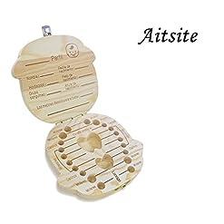 Caja de madera para dientes de leche Aitsite