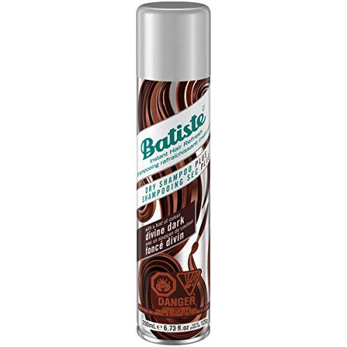 Batiste Trockenshampoo Dry Shampoo Divine Dark mit einem Hauch von Farbe für schwarzes und dunkelbraunes Haar, Frisches Haar für alle Haartypen, 1er Pack (1 x 200 ml)