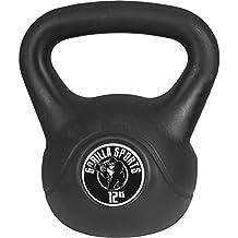 Gorilla Sports Kettlebell Cement - Pesa rusas( de 12 a 15 kg, 12 kg, 20 kg ), talla 12kg