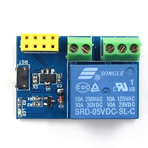TAOHOU AY94ESP8266 ESP-01S 5V WiFi Módulo de relé Interruptor Remoto Socket Inteligente Azul