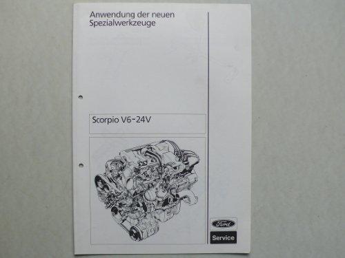 Ford Scorpio V6 24V - Original Ford - Anwendung der neuen Spezialwerkzeuge (Ford Spezialwerkzeuge)