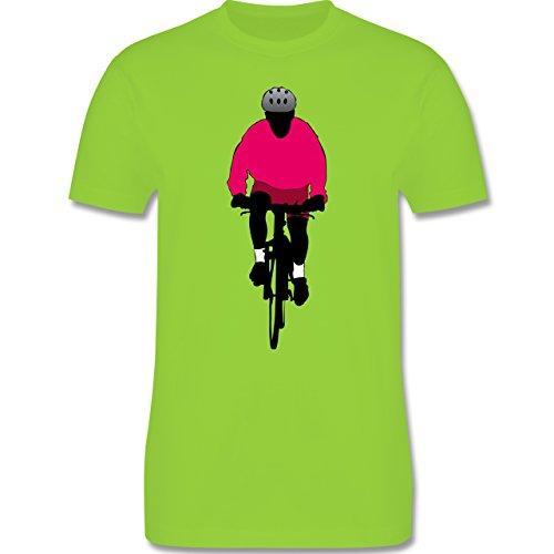 Radsport - Mountainbike Fahrrad - Herren Premium T-Shirt Hellgrün