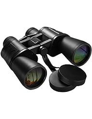 Compacto Prismaticos Binoculares Largo Alcance, [Nueva Visión] Pictek 10X50mm FMC Óptico Prismaticos Alta definición Telescopio Con correa para el cuello, Bolsa Protectora para Caza, Senderismo, Observación de Aves, Turismo