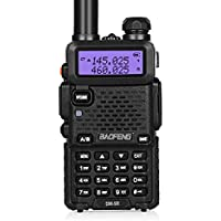 "Baofeng - Radiotrasmittente dual band per radioamatori""UV-5R"", 2 m / 70 cm, 136-174/400-480 MHz, VHF/UHF, FM 65-108 MHz"