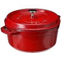 Staub Cast Iron Round Cocotte, 4-Quart, Cherry - 40509-835-0