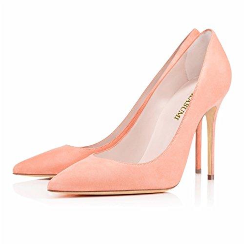 EDEFS Femmes Artisan Fashion Escarpins Classiques Pointus Des Couleurs Chaussures à talon haut de 100mm Bleu Clair Rosé-SL
