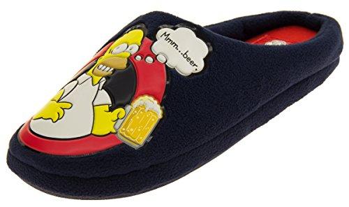 The Simpsons Mules Hommes Textile Toison Mule Pantoufle EU 43 Marine