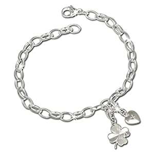 SilberDream Charms Armband Set – Glück – 925 Sterling Silber Charm Armband und Anhänger – FCA302
