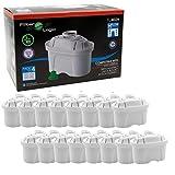 FilterLogic FL402H - confezione 16 filtri - cartucce filtranti - filtro per acqua compatibile con BRITA ® Maxtra ® per caraffa filtrante Elemaris / Marella / Navelia / Fjord / Fun - Bosch , Siemens Tassimo - BWT - Bosch Filtrino - 1011170 - 1013333