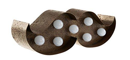 Marquee Lights Eist/üte Eiskrem Eiscreme wei/ß mit LED Beleuchtung in 9 Batteriebetrieben Metall Pulverbeschichtet