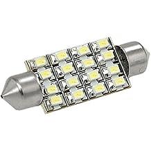 12V Blanco 16-LED 38mm 6418 led Bombillas para coche