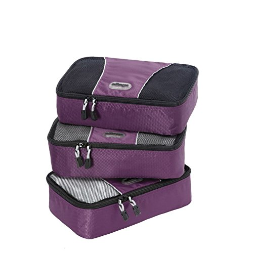 eBags Packing Cubes Packtaschen: 3-teiliges Packwürfel-Set, klein (Aubergine)